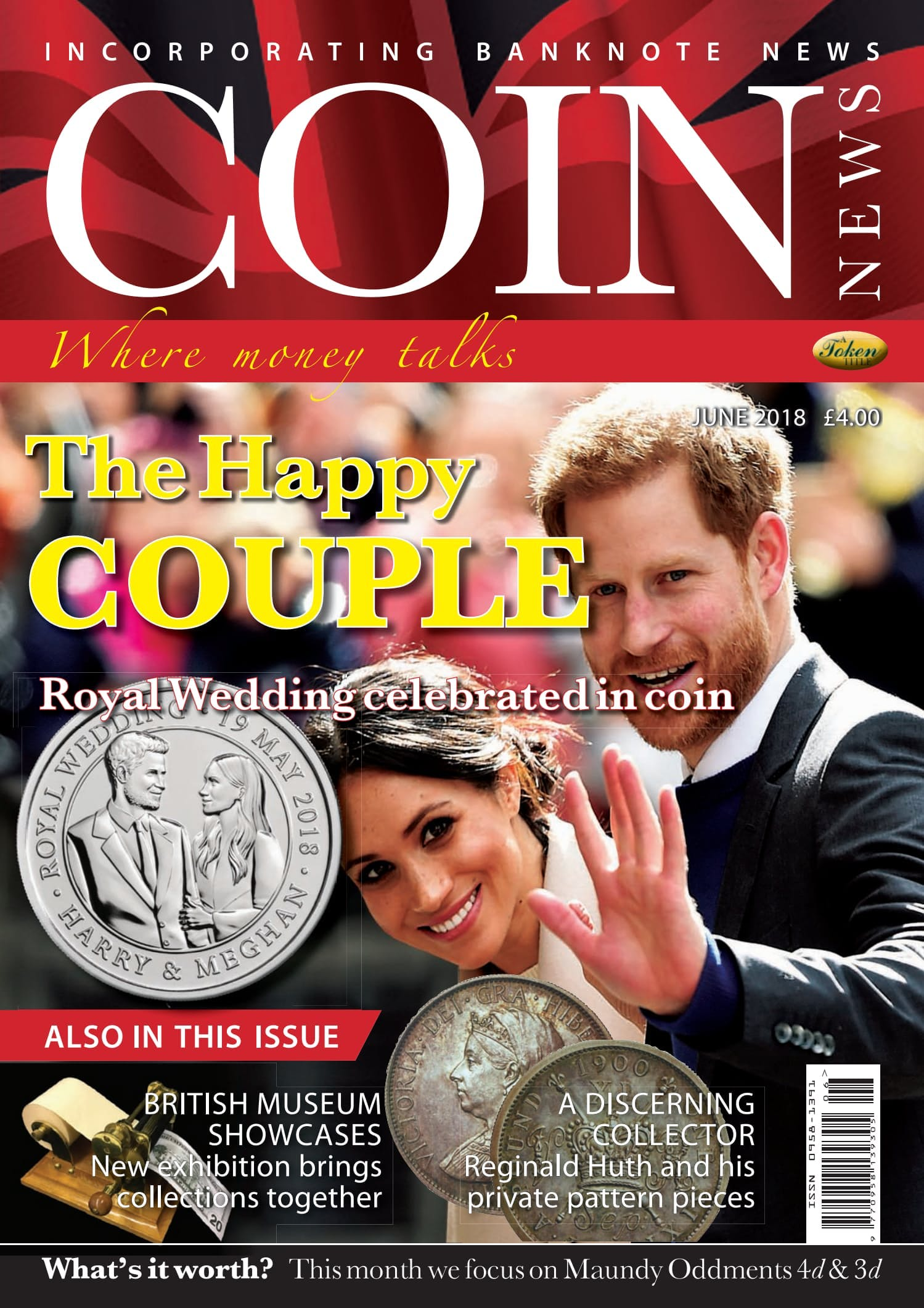 Front cover of 'The Happy Couple', Coin News June 2018, Volume 55, Number 6 by Token Publishing