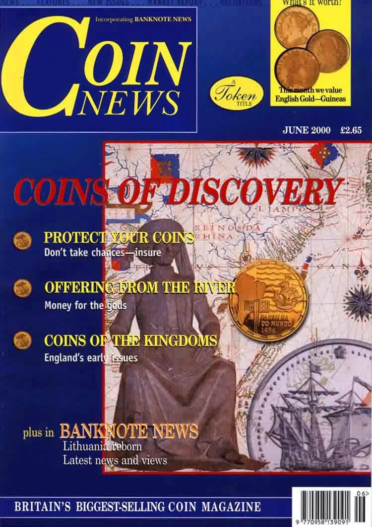 Front cover of 'Peace of mind', Coin News June 2000, Volume 37, Number 6 by Token Publishing