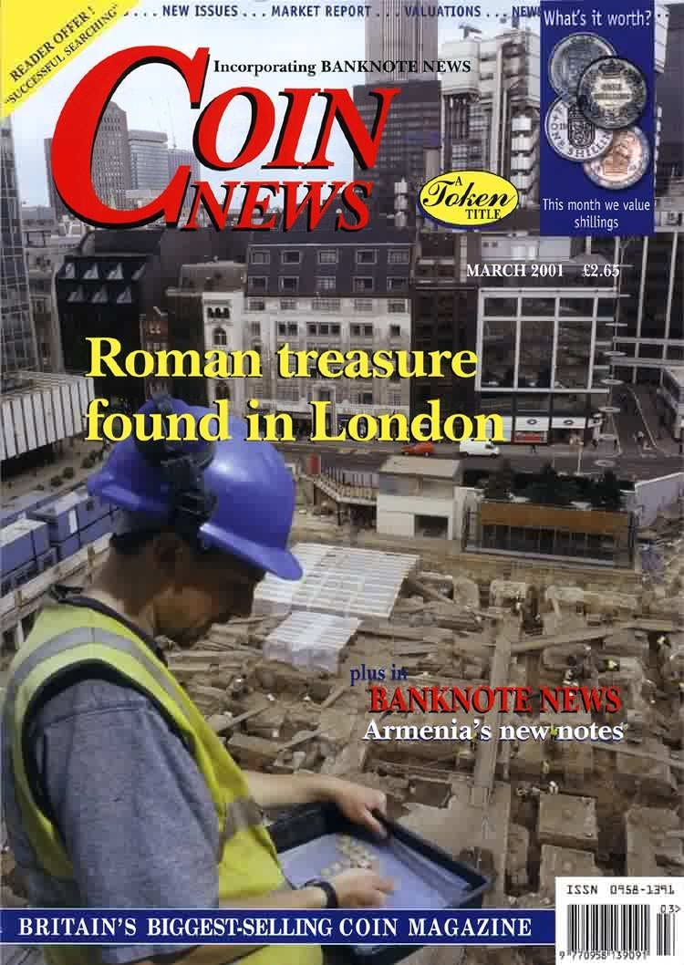 Front cover of 'Swelling the ranks', Coin News March 2001, Volume 38, Number 3 by Token Publishing