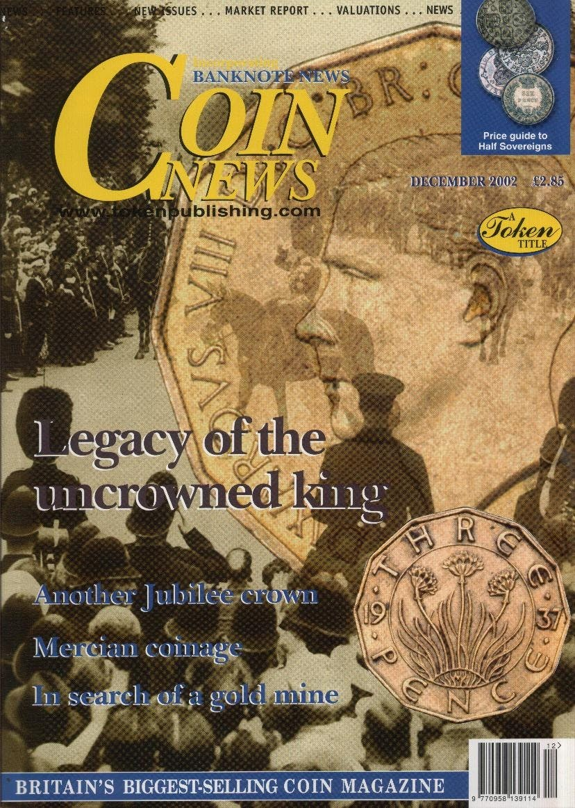 Front cover of 'Just a bag of sweets', Coin News December 2002, Volume 39, Number 12 by Token Publishing