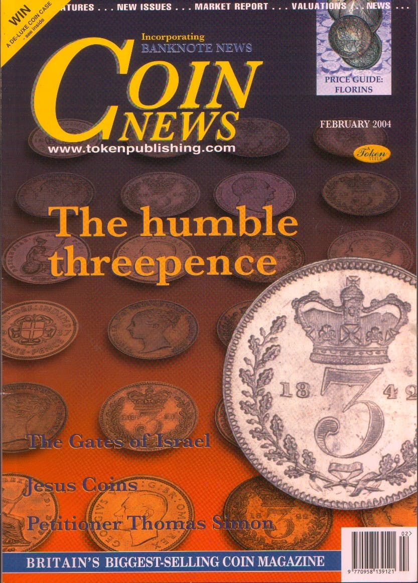 Front cover of 'All Part of the service', Coin News February 2004, Volume 41, Number 2 by Token Publishing