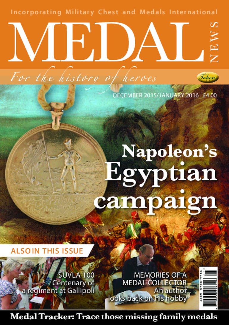 Front cover of 'Napoleons Egyptian Campaign', Medal News January 2016, Volume 54, Number 1 by Token Publishing