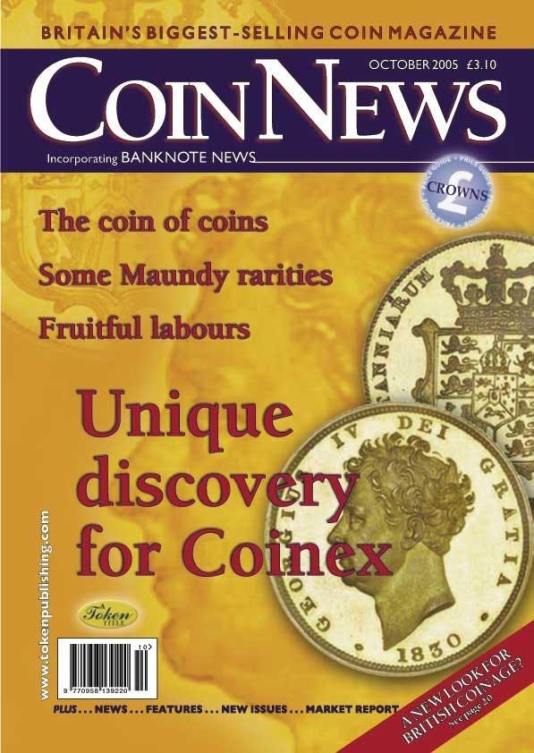 Front cover of 'Changing Change', Coin News October 2005, Volume 42, Number 10 by Token Publishing