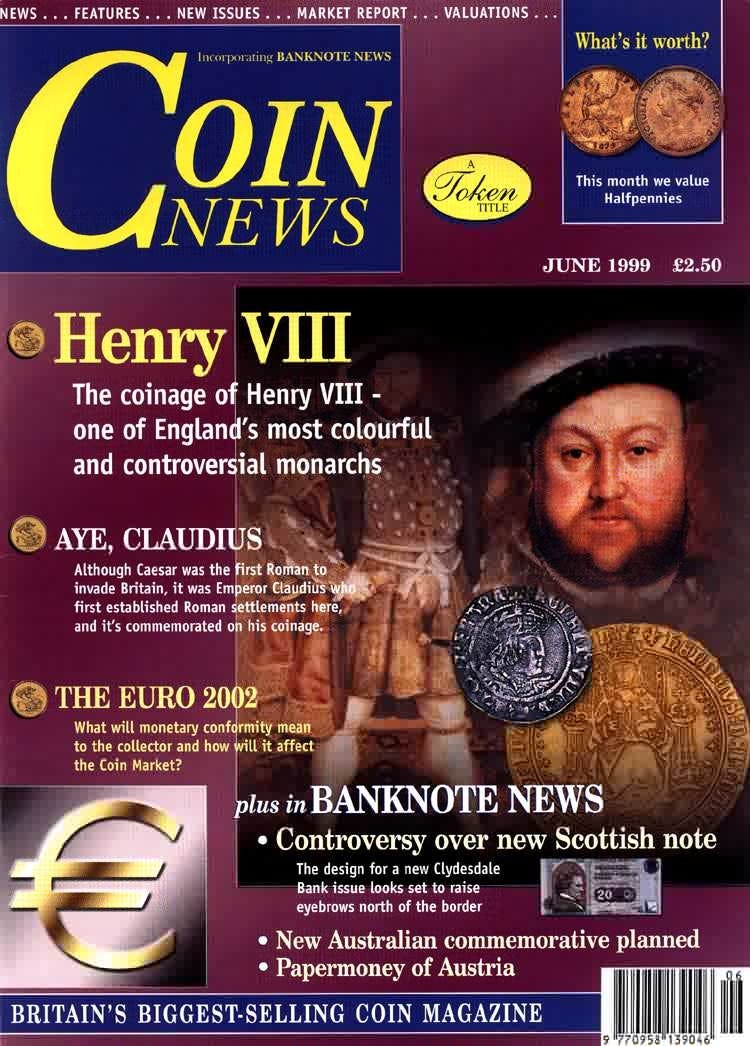 Front cover of 'Collector's choose', Coin News June 1999, Volume 36, Number 6 by Token Publishing