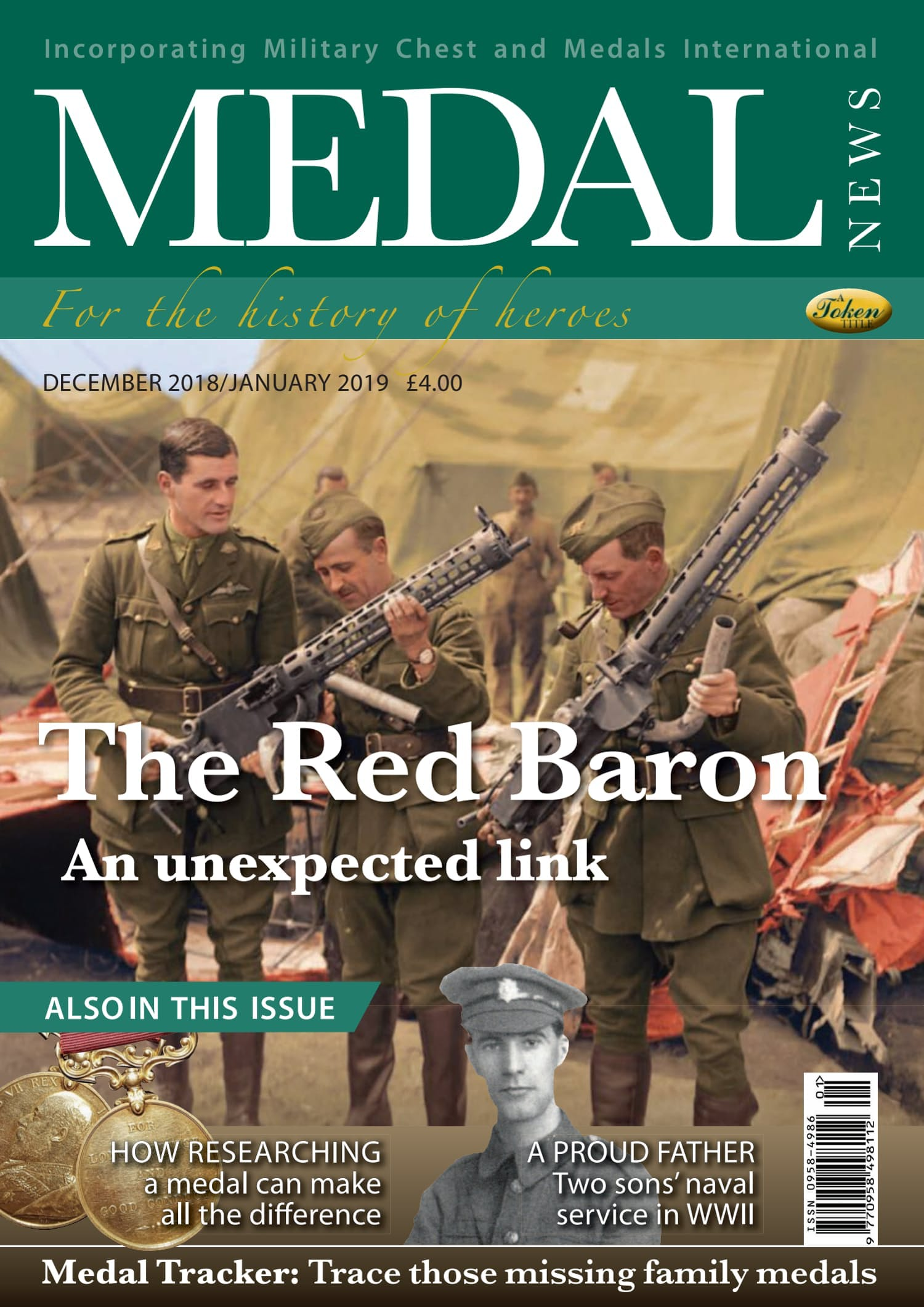 The front cover of Medal News, January 2019 - Volume 57, Number 1