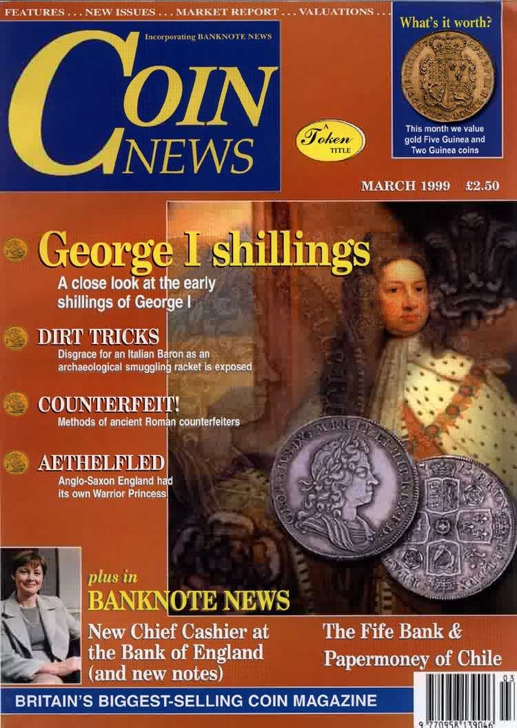 Front cover of 'The 'Coin of the Year' Awards', Coin News March 1999, Volume 36, Number 3 by Token Publishing