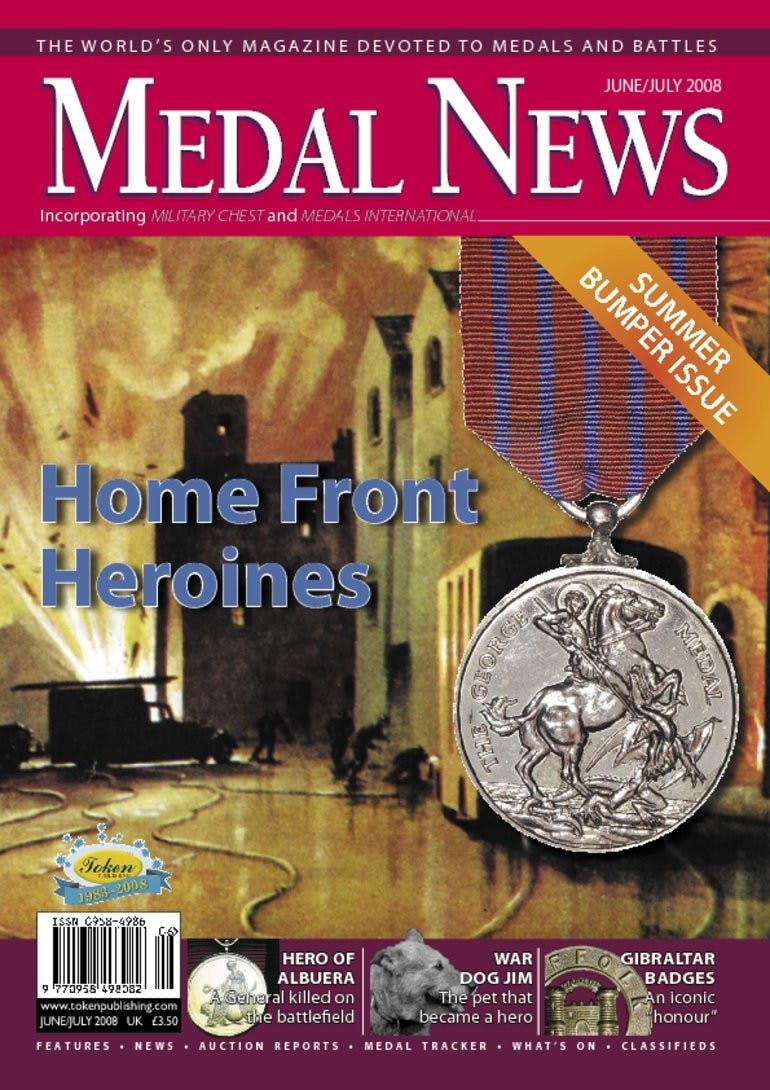 Front cover of 'Home front Heroines', Medal News June 2008, Volume 46, Number 6 by Token Publishing