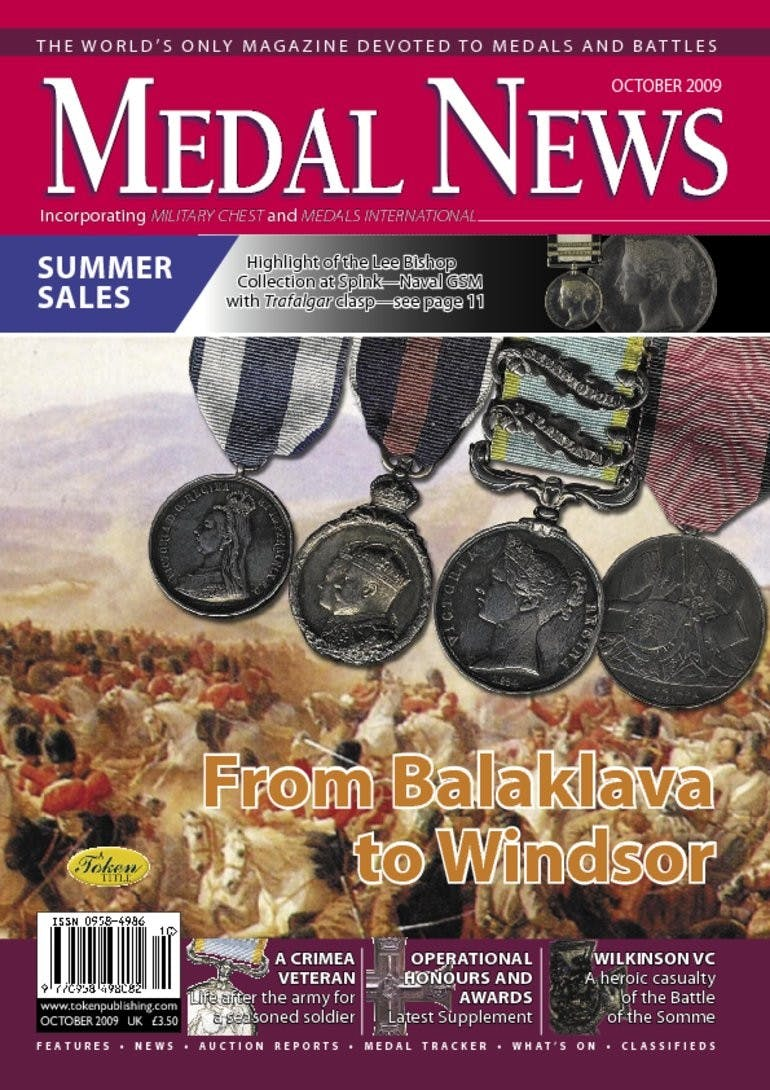 Front cover of 'From Balaklava to Windsor', Medal News October 2009, Volume 47, Number 9 by Token Publishing