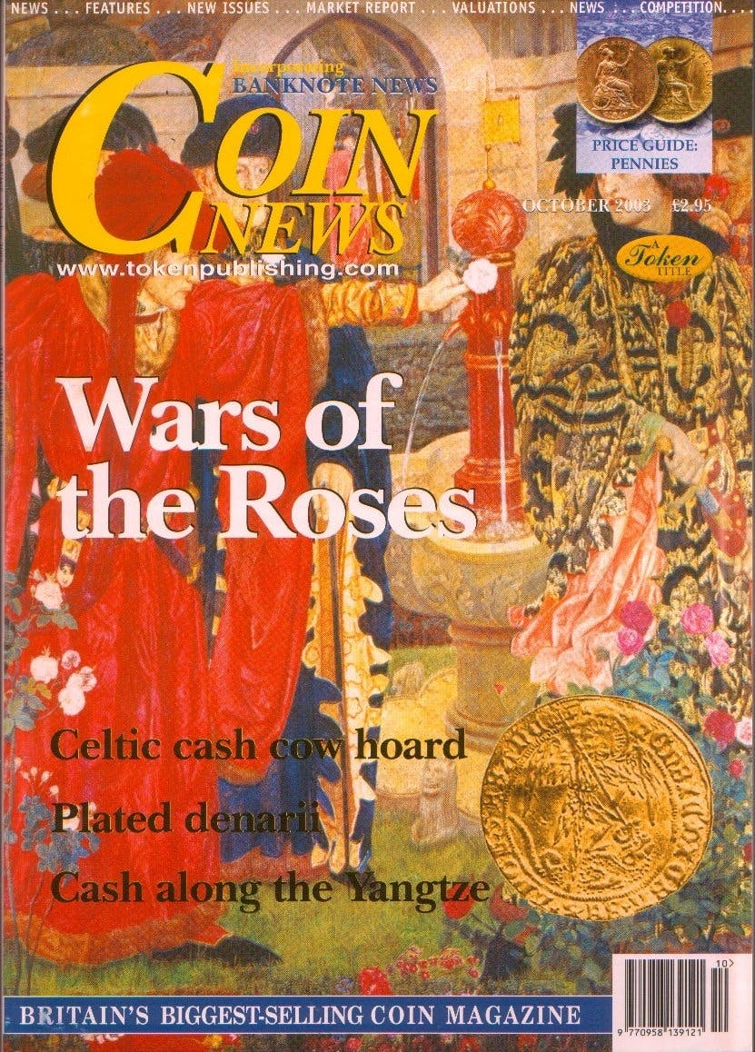 Front cover of 'The Wars of the Roses', Coin News October 2003, Volume 40, Number 10 by Token Publishing