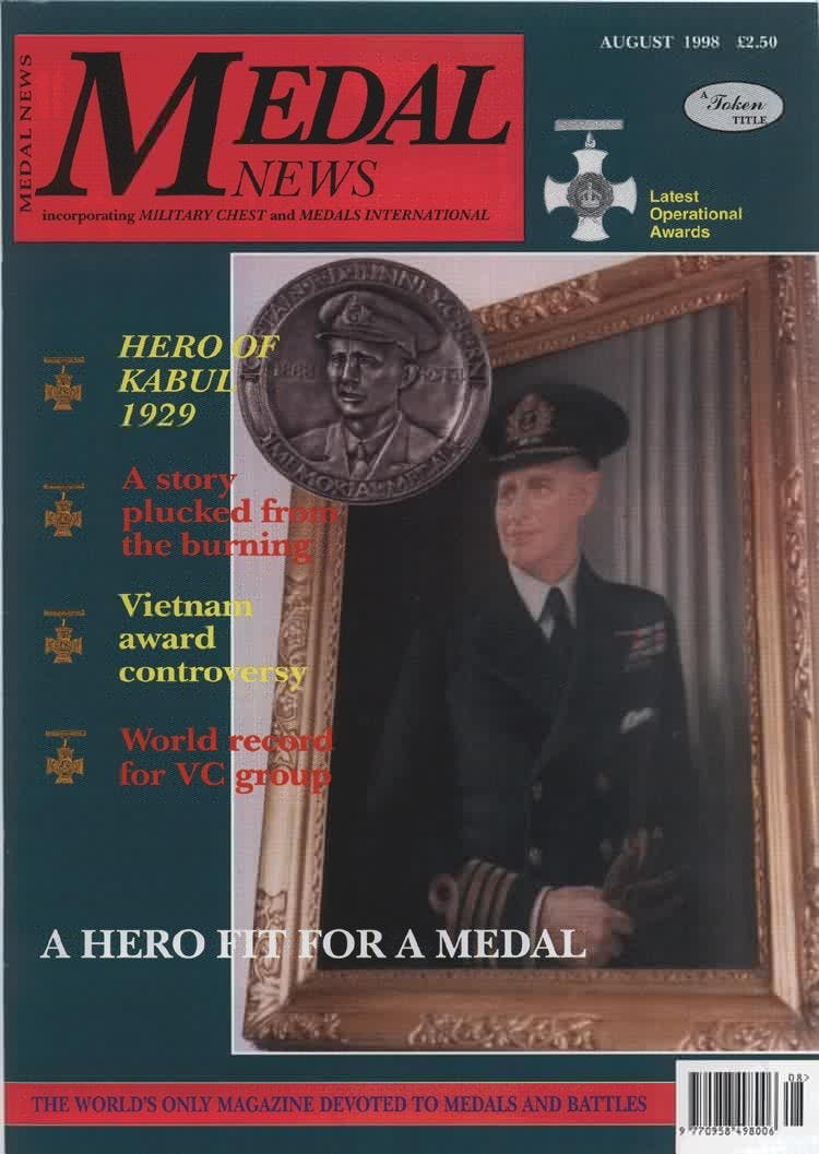 Front cover of 'From the Editor's desk', Medal News August 1998, Volume 36, Number 7 by Token Publishing