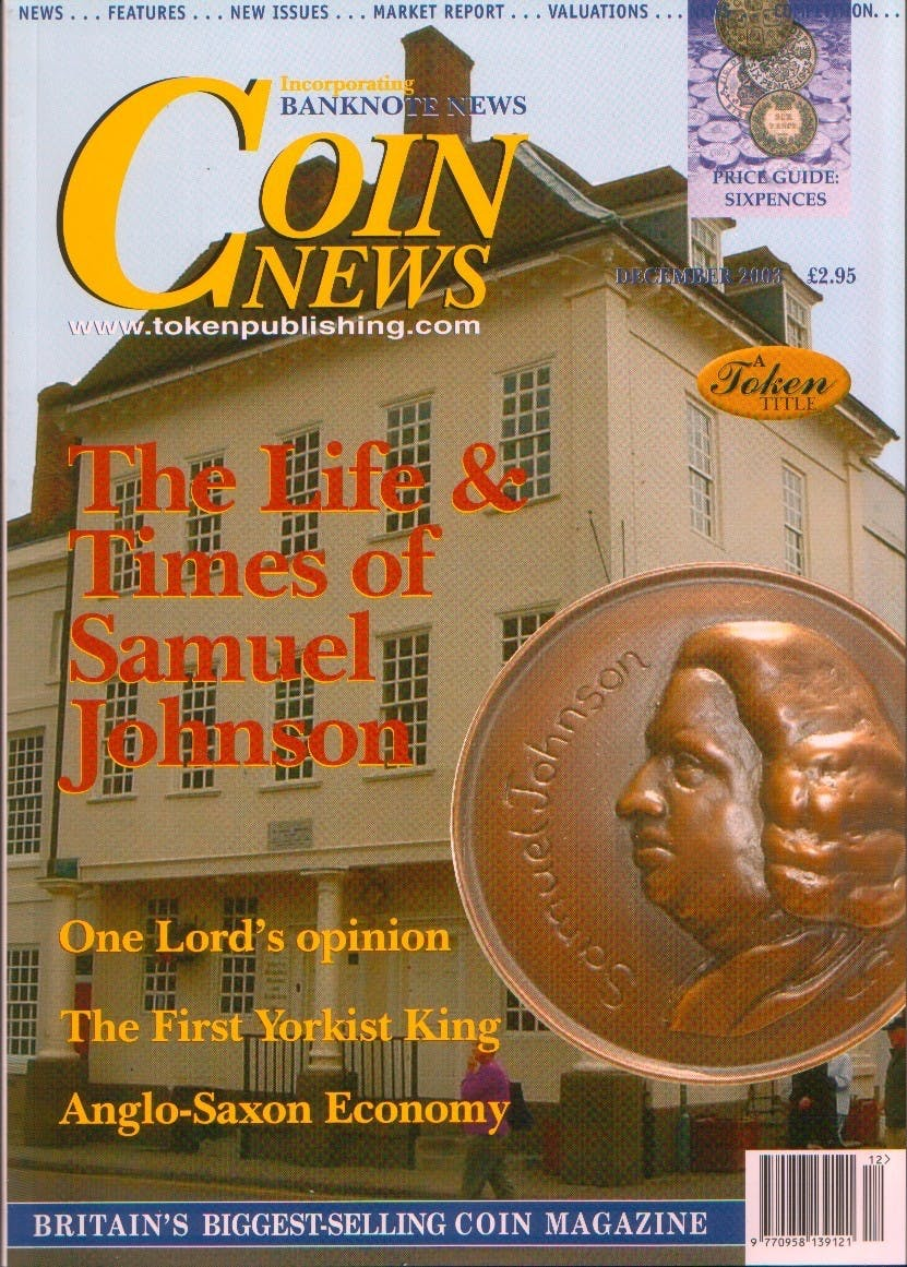 Front cover of 'Bandwagon Blues', Coin News December 2003, Volume 40, Number 12 by Token Publishing