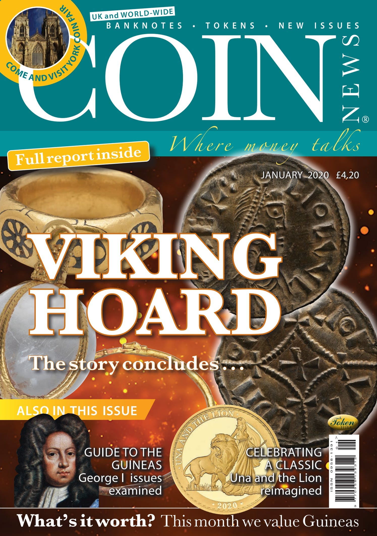 Front cover of 'Viking Coins', Coin News January 2020, Volume 57, Number 1 by Token Publishing