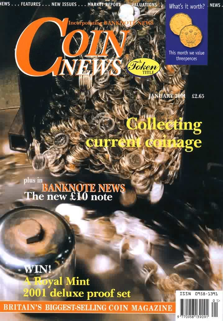 Front cover of 'A point of issue', Coin News January 2001, Volume 38, Number 1 by Token Publishing