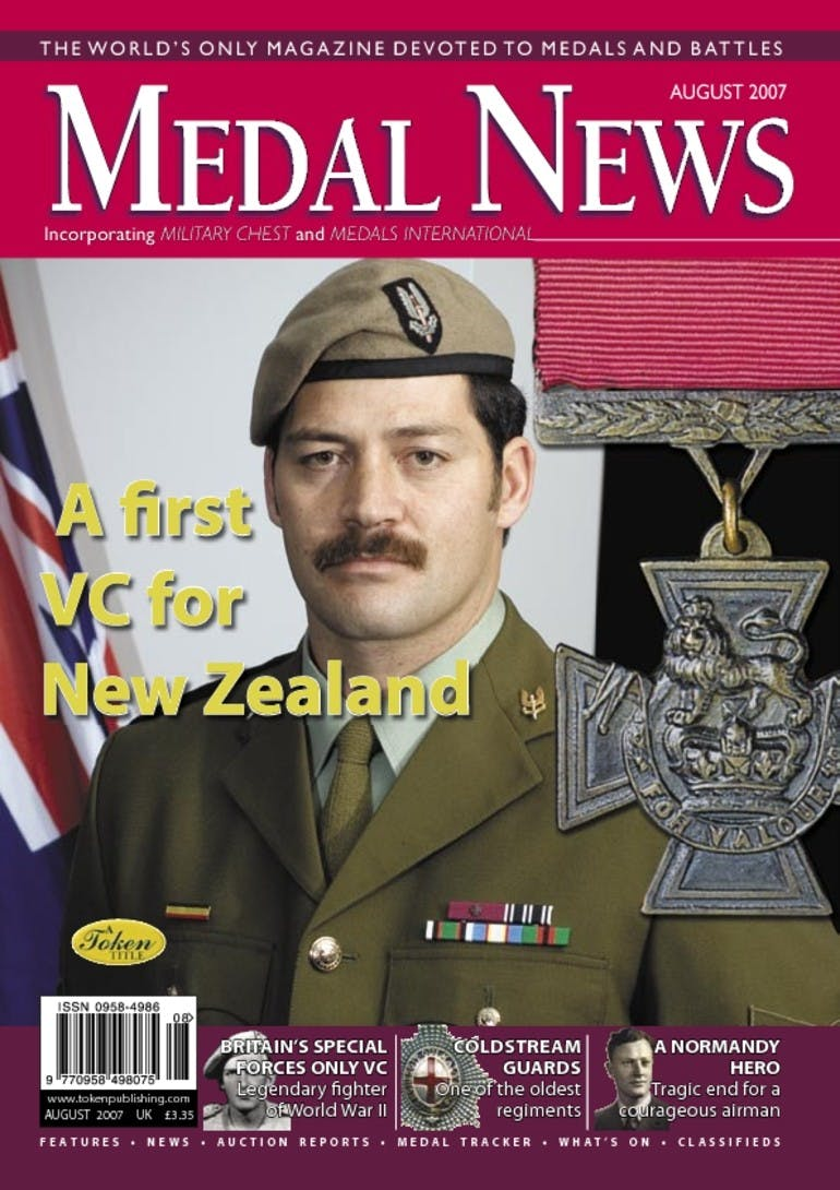 Front cover of 'A definitive guide', Medal News August 2007, Volume 45, Number 7 by Token Publishing