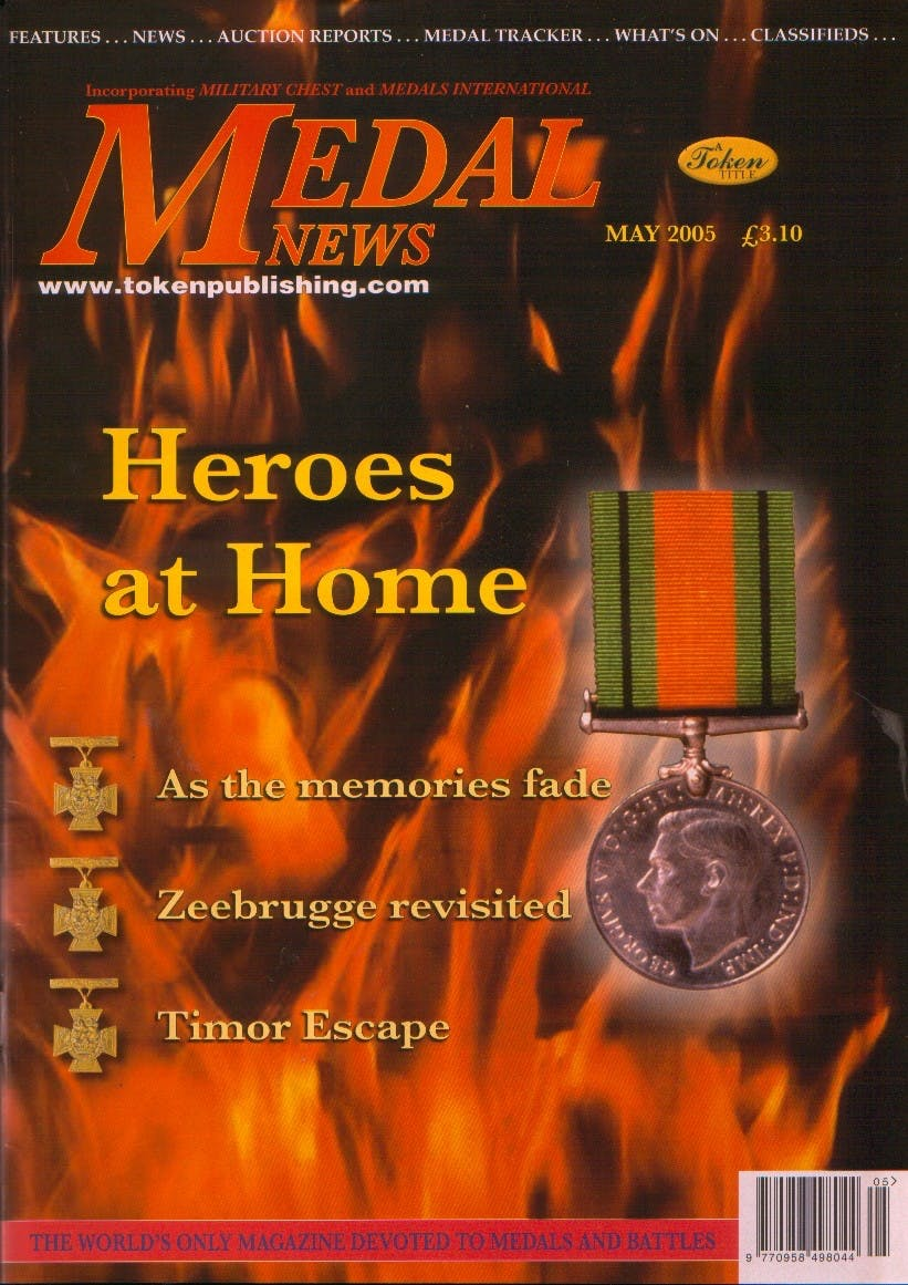 Front cover of 'For what it''s worth', Medal News May 2005, Volume 43, Number 5 by Token Publishing