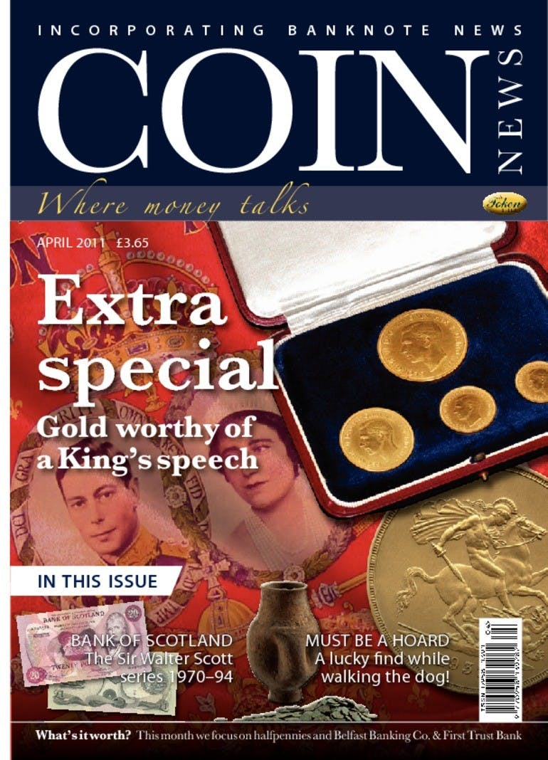 Front cover of 'Extra Special', Coin News April 2011, Volume 48, Number 4 by Token Publishing