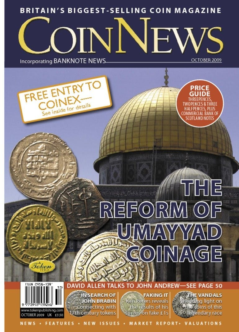 Front cover of 'Reform of the Umayyad coinage', Coin News October 2009, Volume 46, Number 10 by Token Publishing