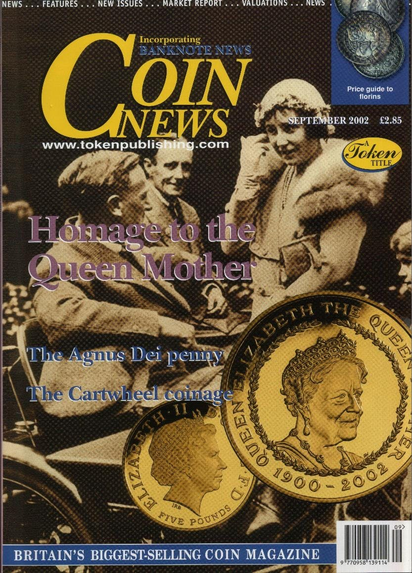 Front cover of 'Royal Memories', Coin News September 2002, Volume 39, Number 9 by Token Publishing
