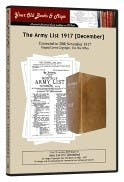 Army List 1917 in the Token Publishing Shop