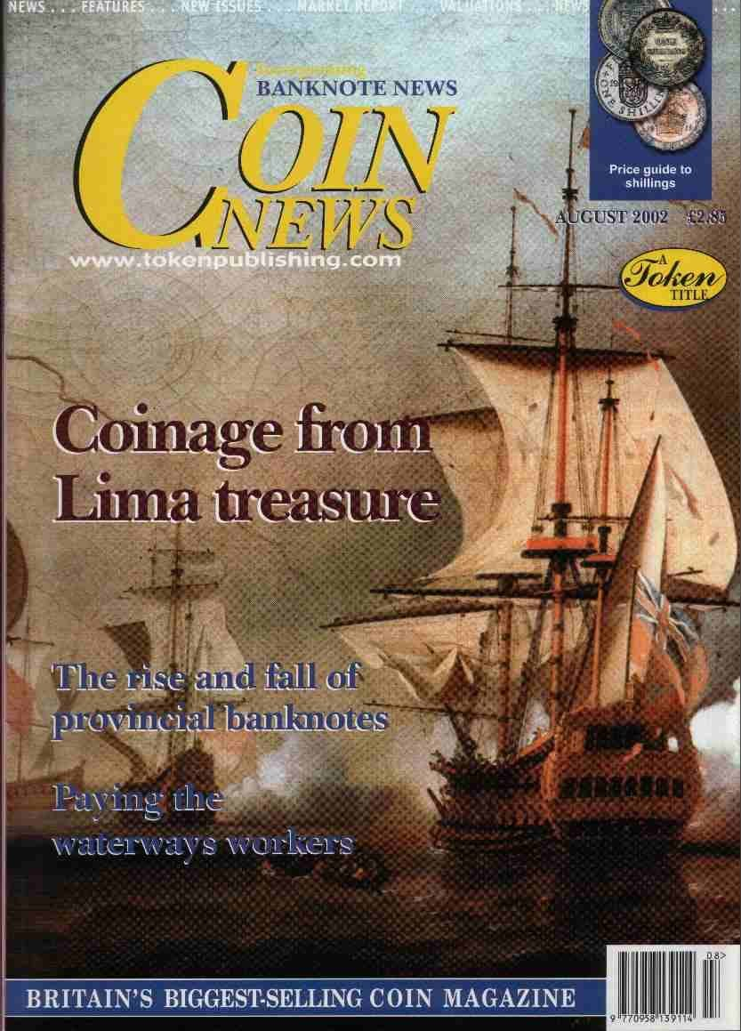 Front cover of 'It's always worth looking', Coin News August 2002, Volume 39, Number 8 by Token Publishing