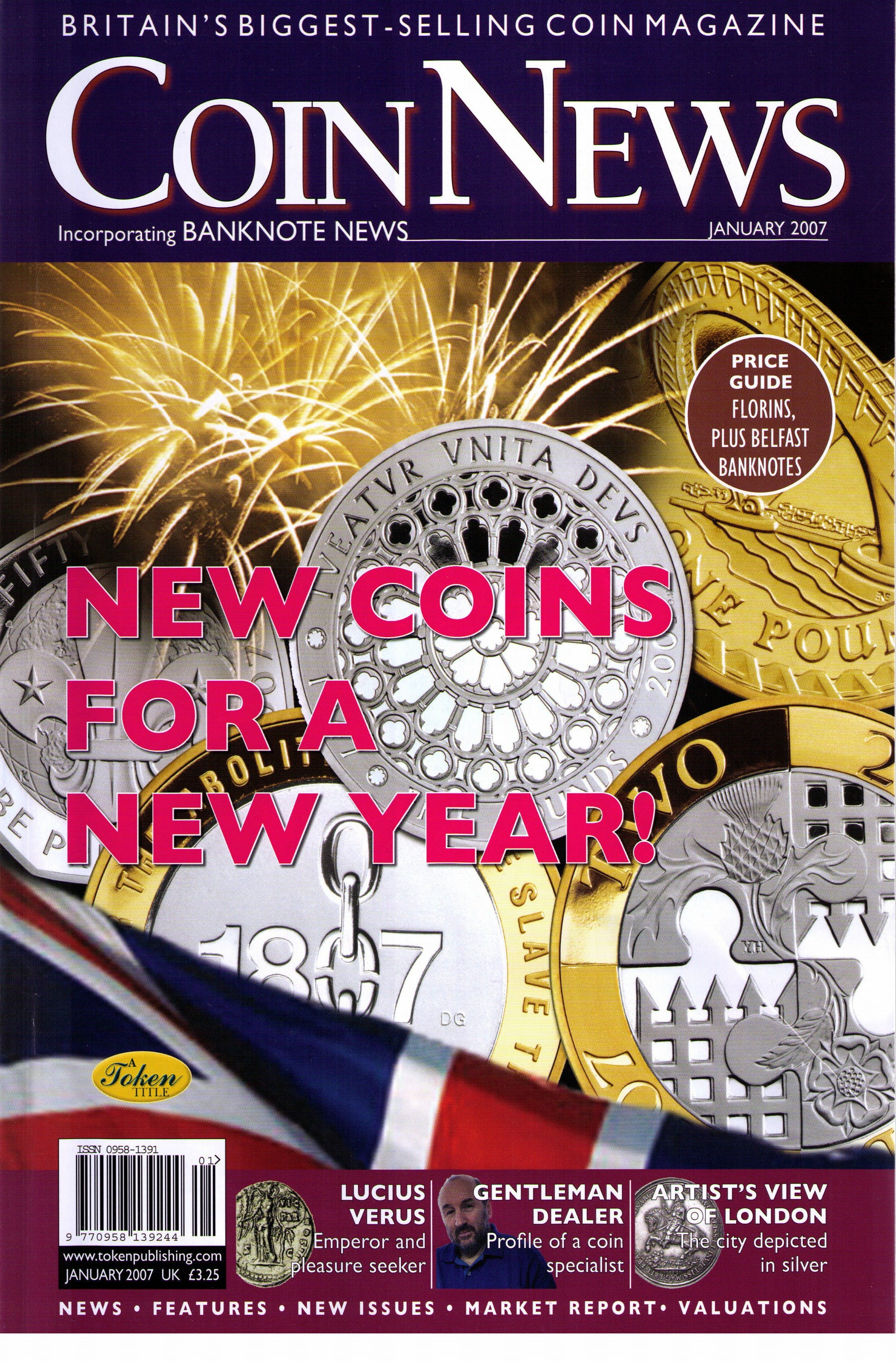 Front cover of 'Innovation or irritation?', Coin News January 2007, Volume 44, Number 1 by Token Publishing