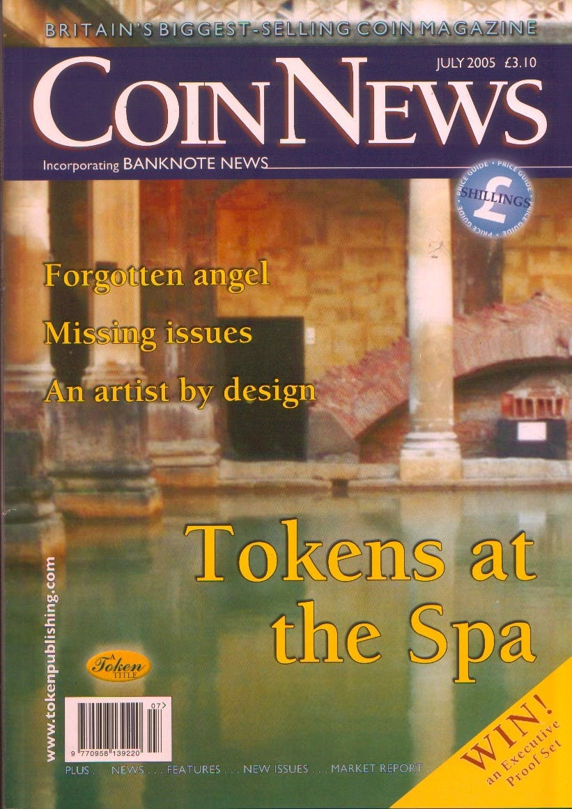 Front cover of 'Information is King', Coin News July 2005, Volume 42, Number 7 by Token Publishing