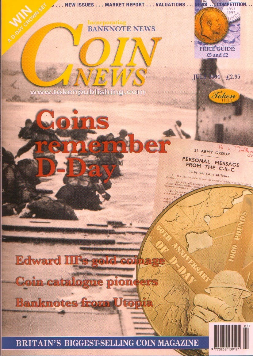 Front cover of 'Editor's Decision', Coin News July 2004, Volume 41, Number 7 by Token Publishing