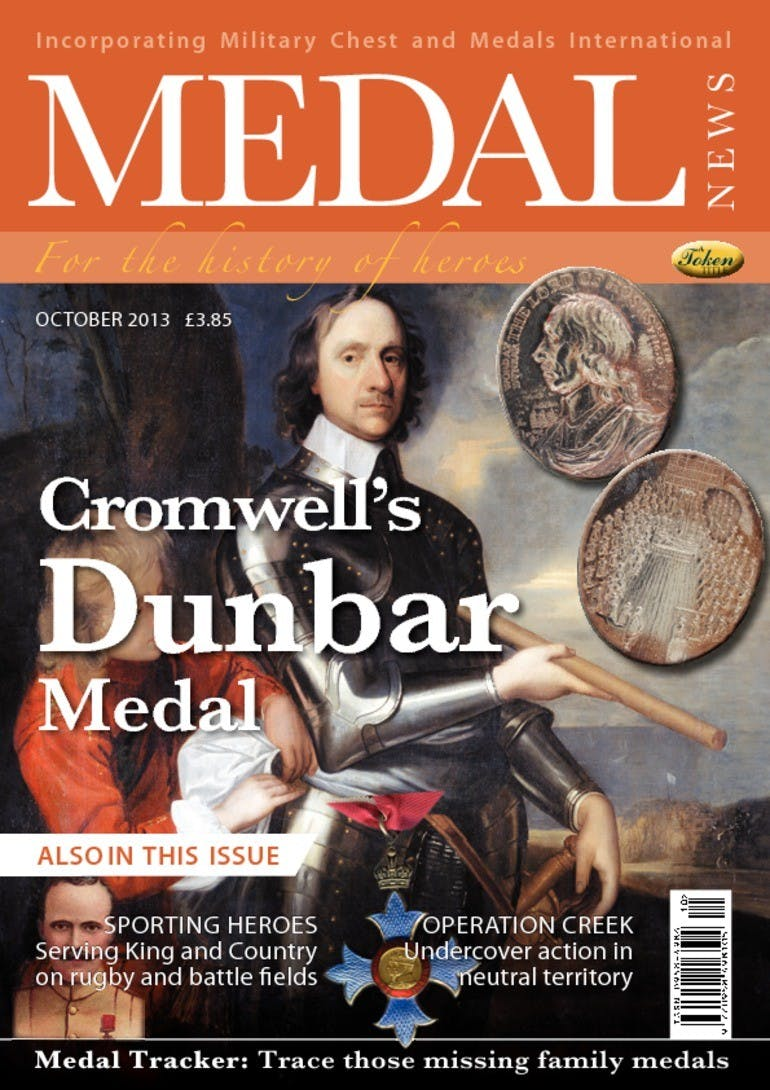 Front cover of 'Cromwells Dunbar Medal', Medal News October 2013, Volume 51, Number 9 by Token Publishing