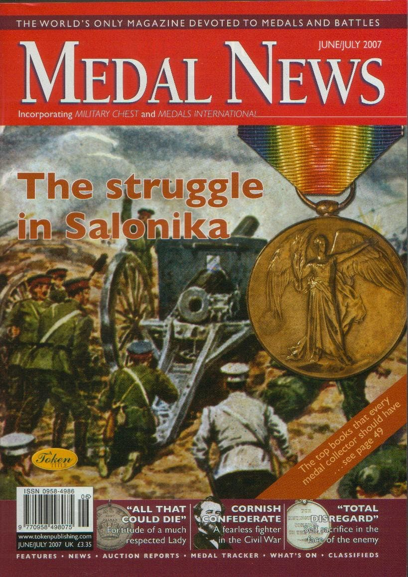 Front cover of 'Part of Family History...', Medal News June 2007, Volume 45, Number 6 by Token Publishing