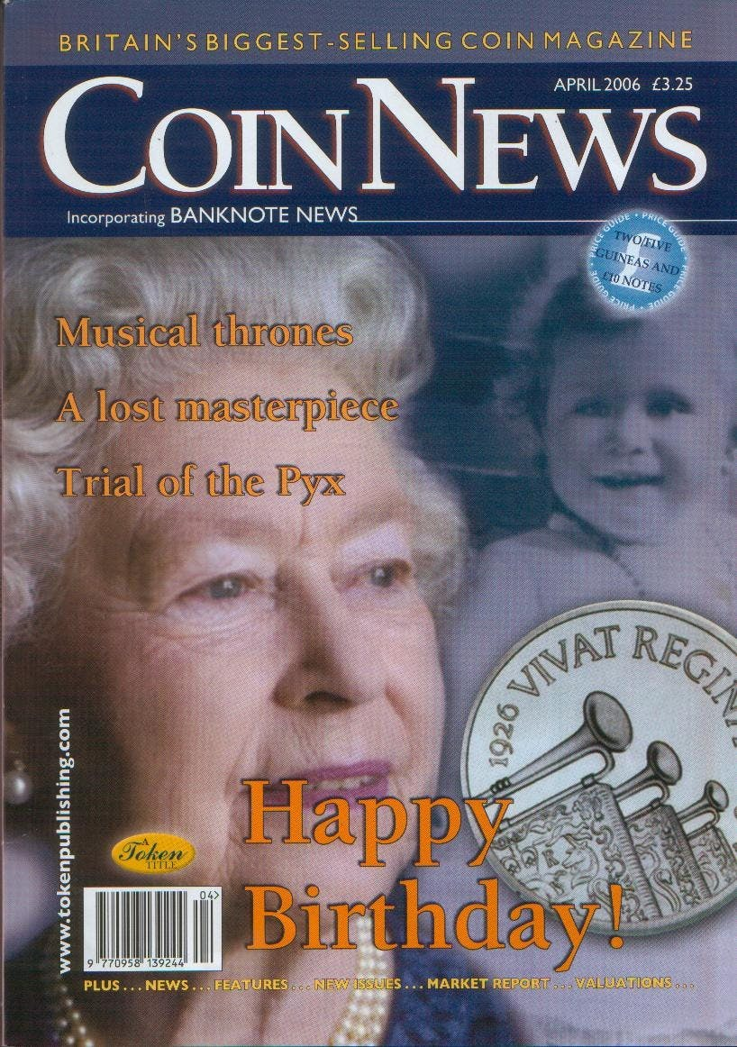 Front cover of 'On the up!', Coin News April 2006, Volume 43, Number 4 by Token Publishing