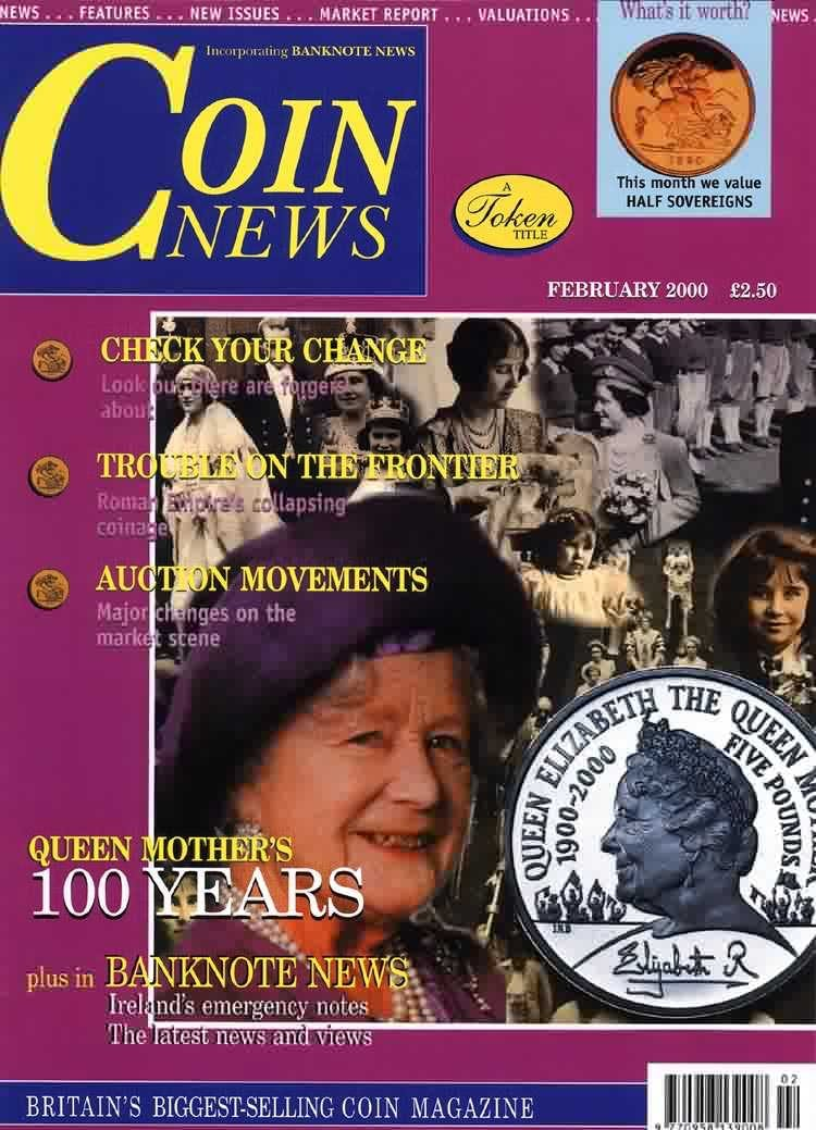 Front cover of 'An issue close to our hearts', Coin News February 2000, Volume 37, Number 2 by Token Publishing