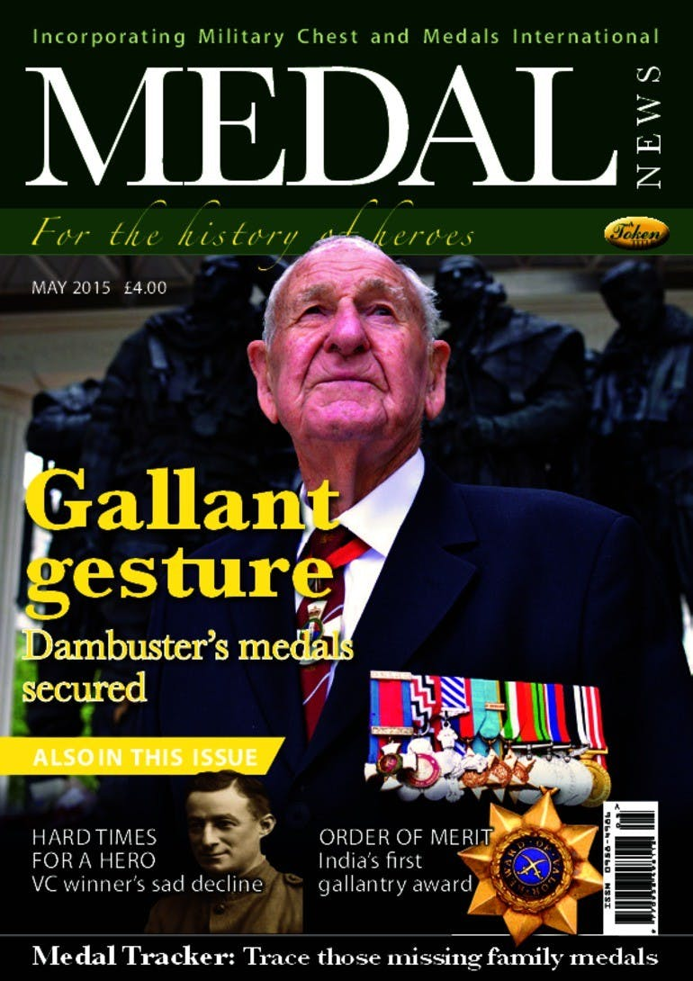 Front cover of 'Gallant gesture', Medal News May 2015, Volume 53, Number 5 by Token Publishing