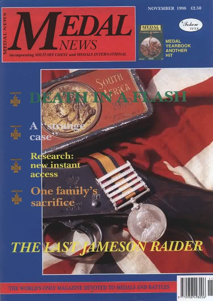 Front cover of 'From the Editor's Desk', Medal News November 1998, Volume 36, Number 10 by Token Publishing