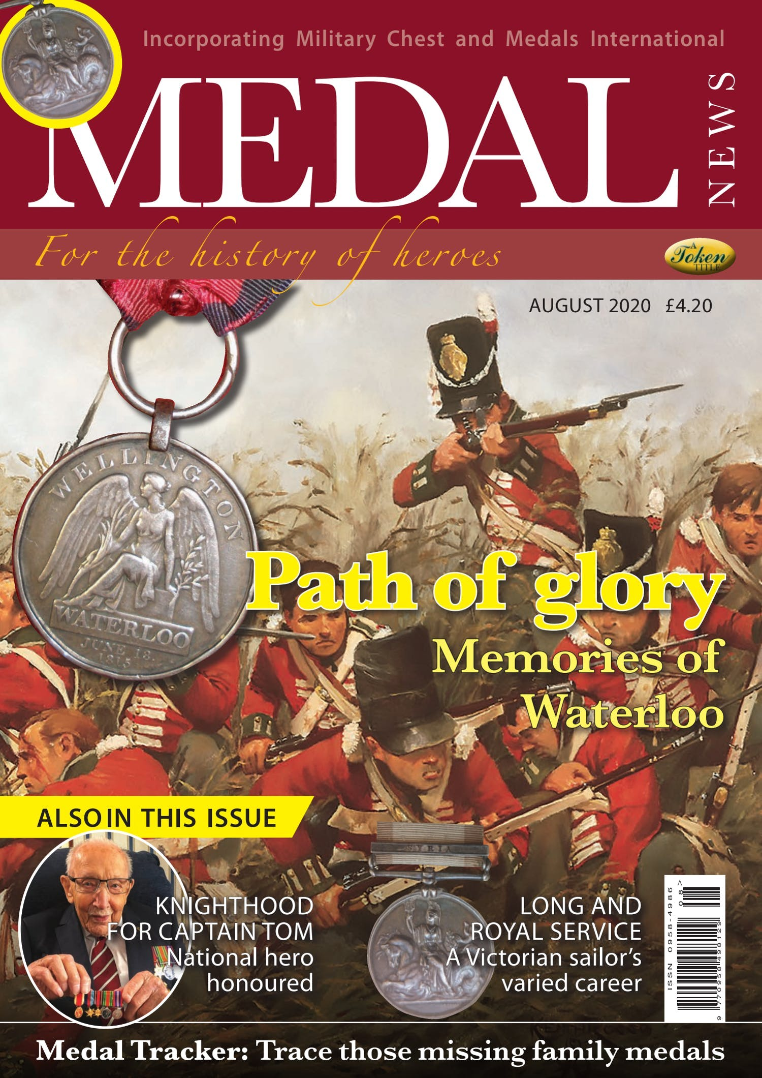 The front cover of Medal News, Volume 58, Number 7, August 2020