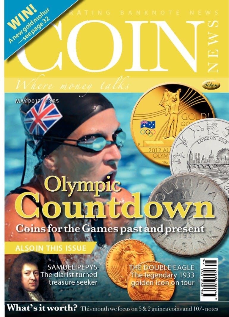 Front cover of 'Olympic countdown', Coin News May 2012, Volume 49, Number 5 by Token Publishing
