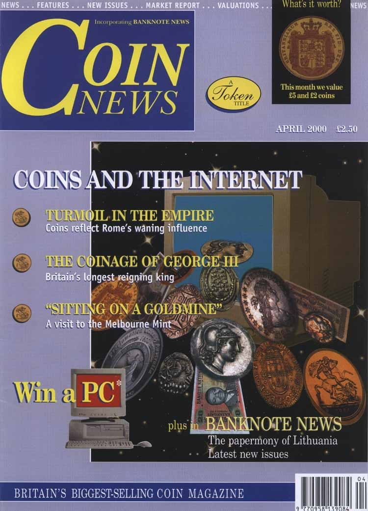 Front cover of 'The new revolution', Coin News April 2000, Volume 37, Number 4 by Token Publishing