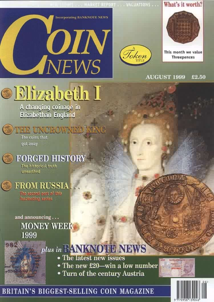 Front cover of 'Hairy security', Coin News August 1999, Volume 36, Number 8 by Token Publishing