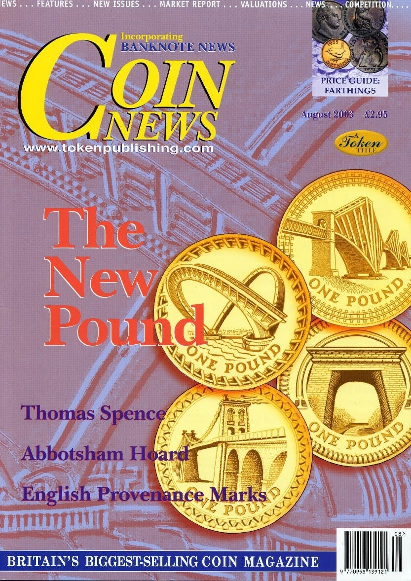 Front cover of 'Building Bridges', Coin News August 2003, Volume 40, Number 8 by Token Publishing