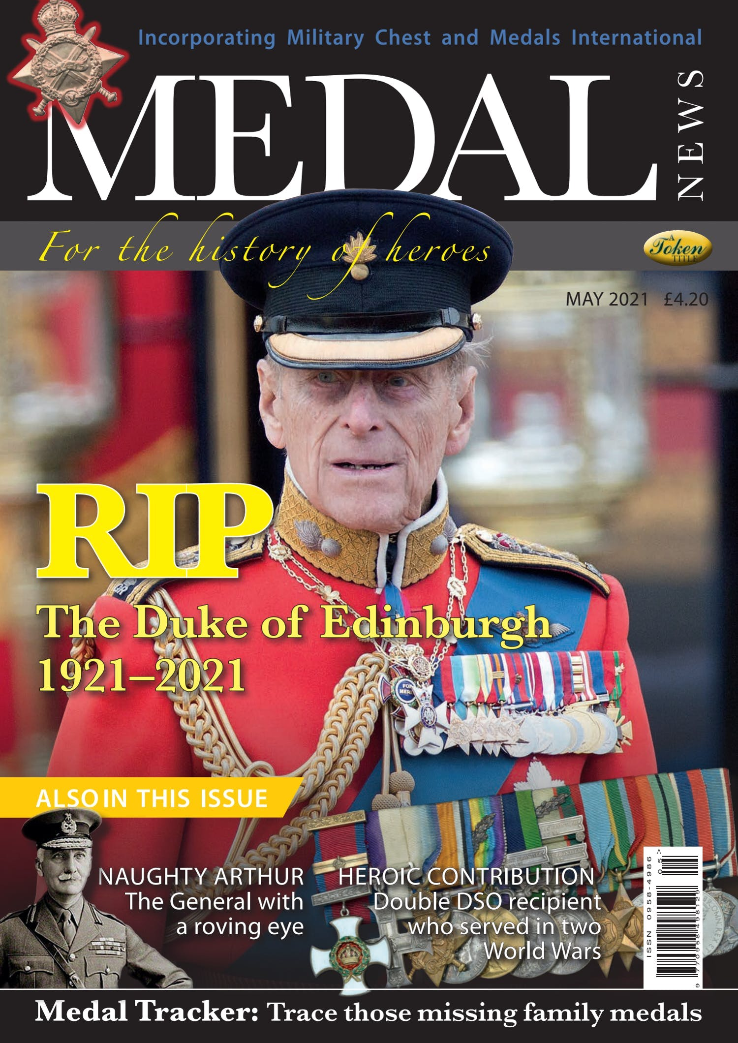 The front cover of Medal News, May 2021 - Volume 59, Number 5