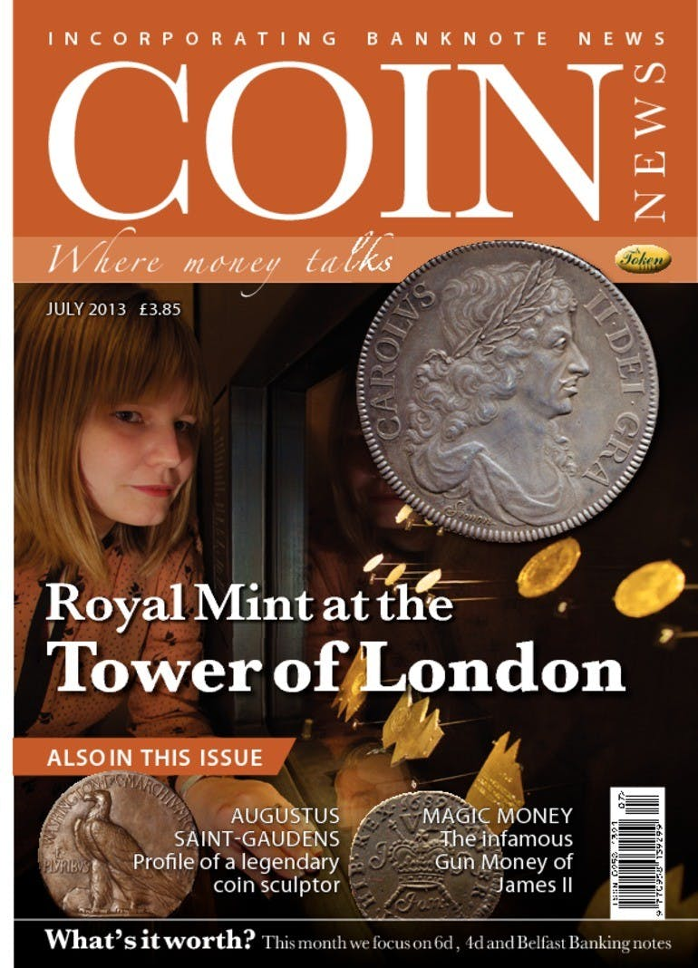 Front cover of 'Royal Mint at Tower of London', Coin News July 2013, Volume 50, Number 7 by Token Publishing