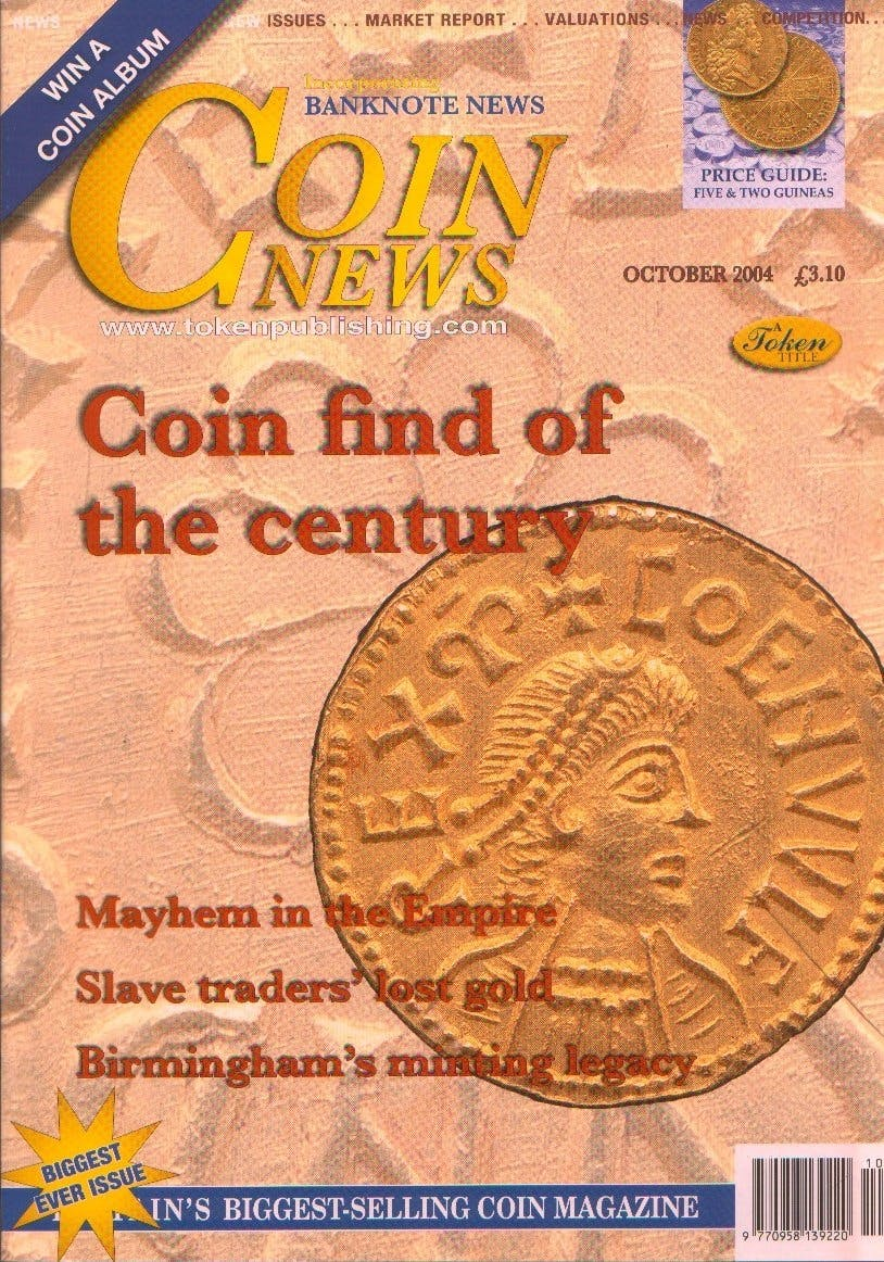 Front cover of 'Full steam ahead', Coin News October 2004, Volume 41, Number 10 by Token Publishing