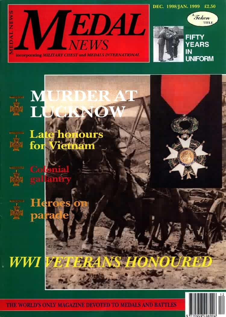 Front cover of 'YOUR VIEWS MATTER', Medal News December 1998, Volume 37, Number 1 by Token Publishing