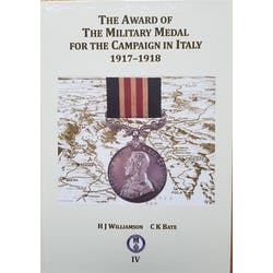 The Award of the Military medal for the Campaign in Italy 1917-1918 in the Token Publishing Shop