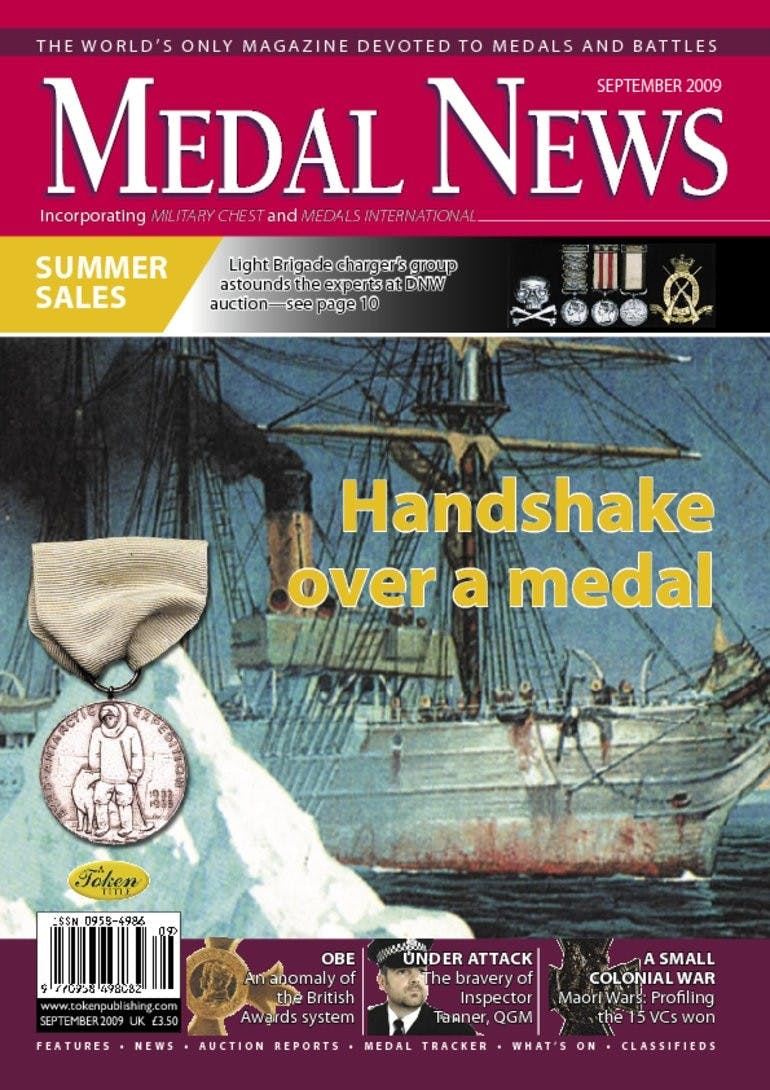 Front cover of 'The right direction', Medal News September 2009, Volume 47, Number 8 by Token Publishing