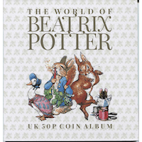 Beatrix Potter 50p Folder and Guide book - post free