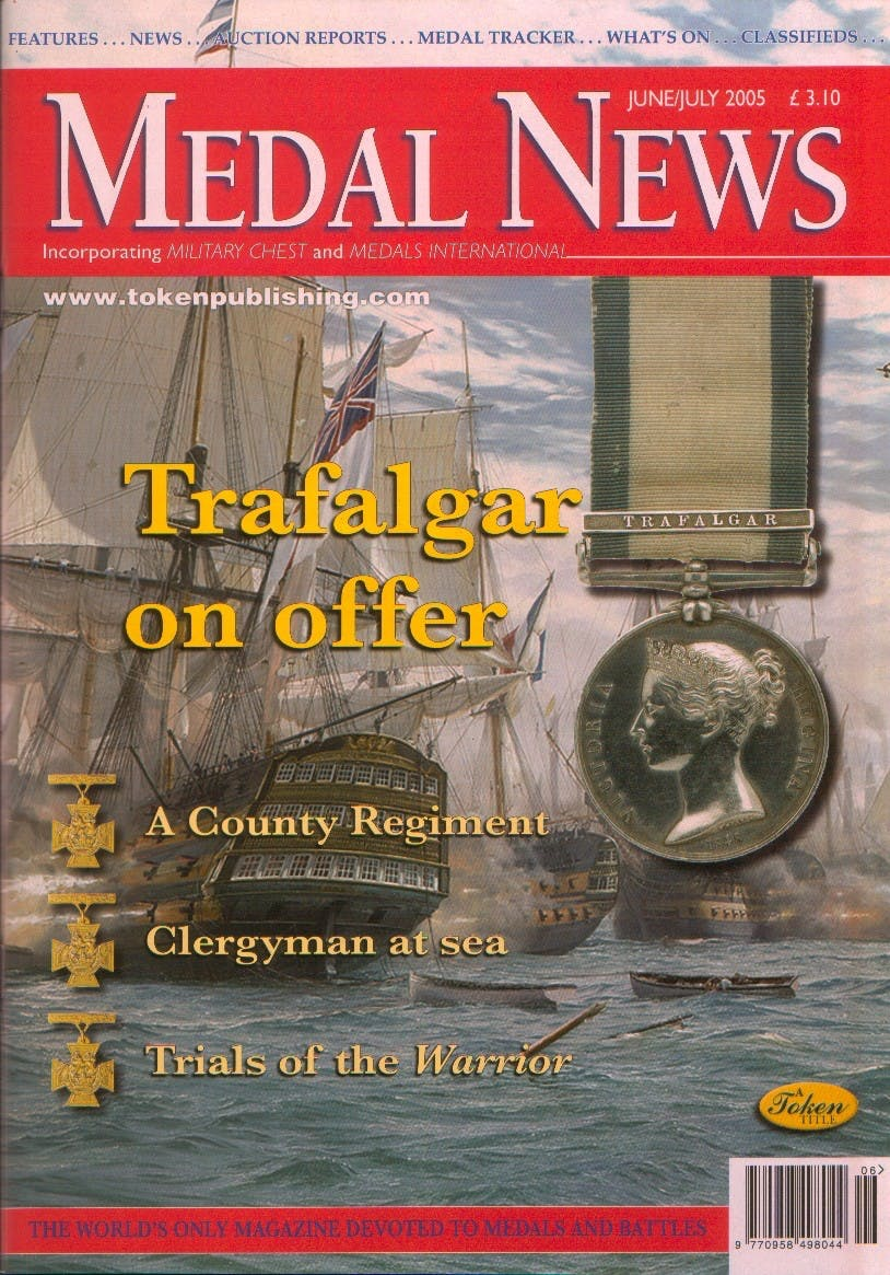 Front cover of 'An odd hobby really', Medal News June 2005, Volume 43, Number 6 by Token Publishing