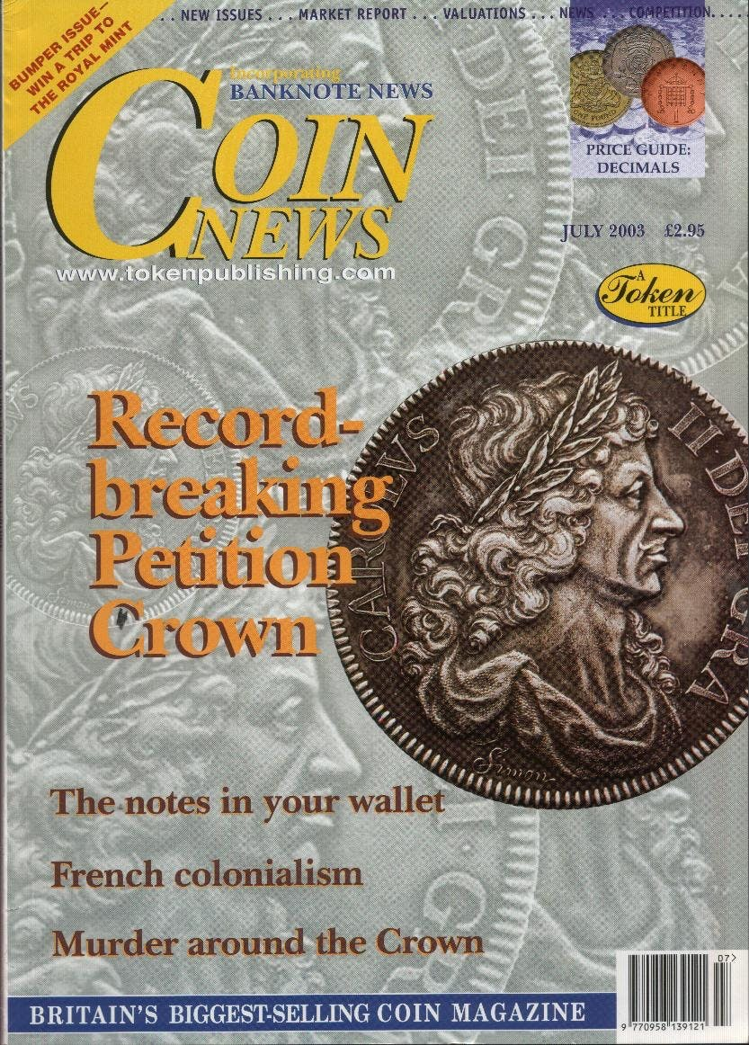 Front cover of 'Collectors rule OK!', Coin News July 2003, Volume 40, Number 7 by Token Publishing