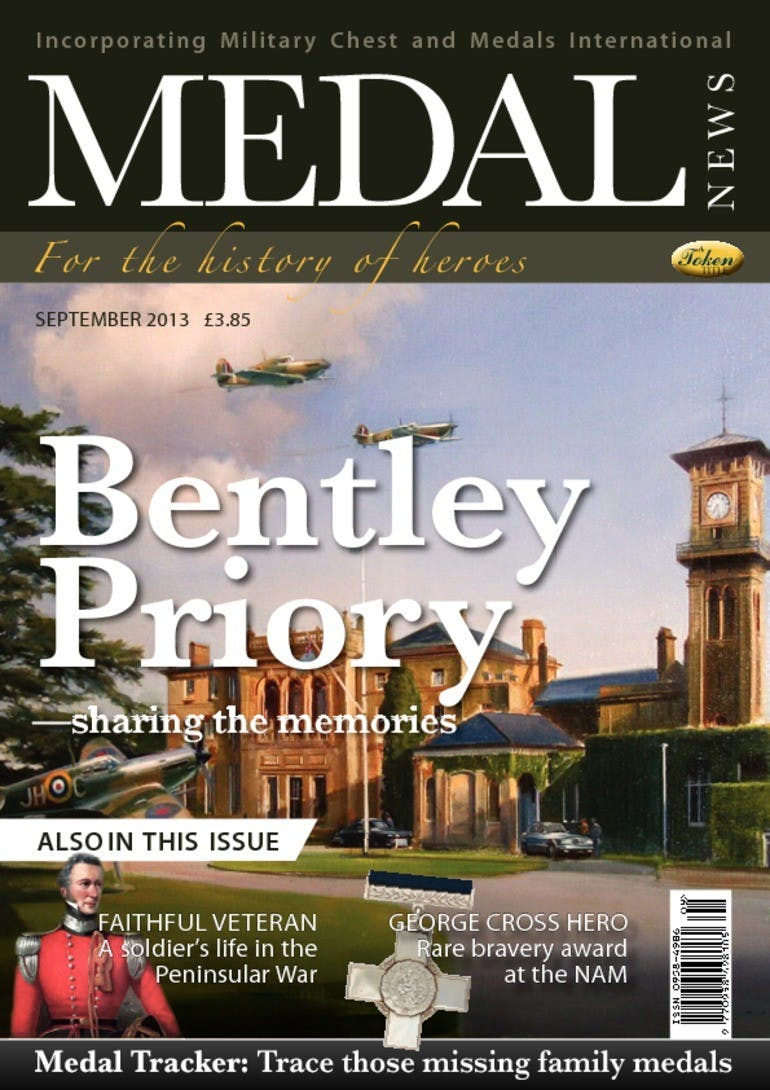 Front cover of 'Bentley Priory', Medal News September 2013, Volume 51, Number 8 by Token Publishing