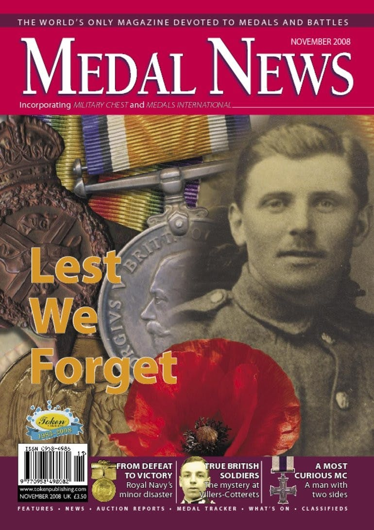 Front cover of 'Lest we forget', Medal News November 2008, Volume 46, Number 10 by Token Publishing