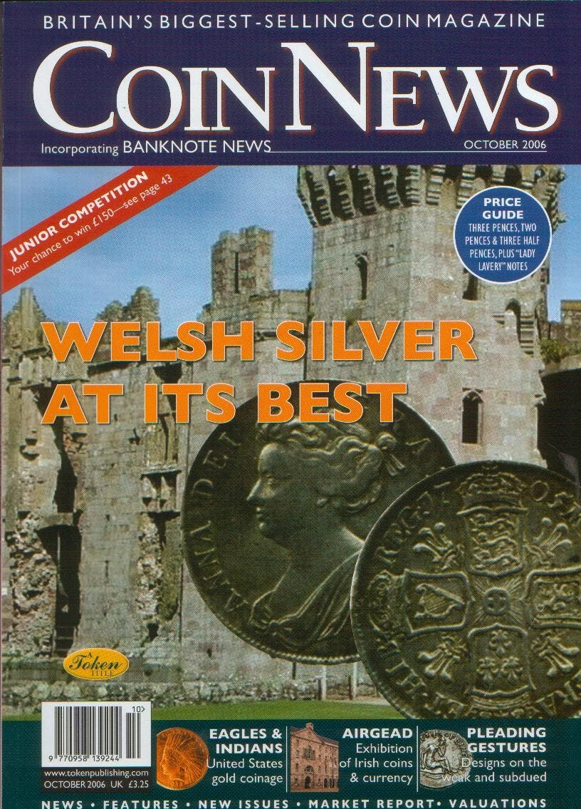 Front cover of 'Calling all parents and grandparents!', Coin News October 2006, Volume 43, Number 10 by Token Publishing